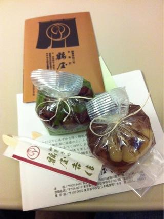 食後のデザートは和菓子