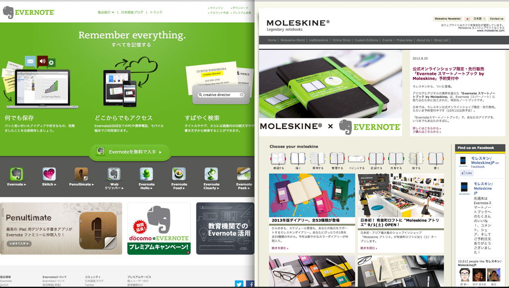 Evernote and MOLESKINE