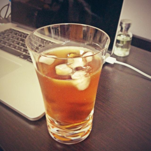 バカラと麦茶