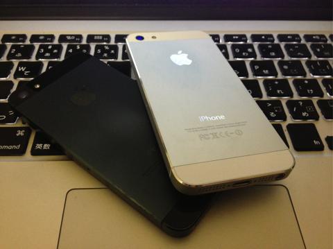 iPhone 5 が2台ですが複数形表記はしない