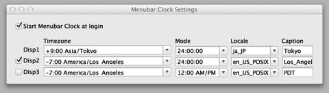Menubar Clock Settings